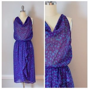 Vintage 70s Blouson Dress